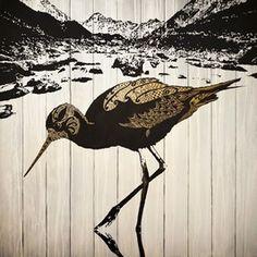 Aoraki Gold by Sofia Minson Artwork Prints, Fine Art Prints, Metallic Gold Paint, Nz Art, Maori Art, Contemporary Artwork, Bird Art, Pet Birds, Online Art