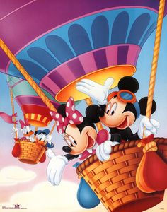 Mickey Mouse and Friends Hot Air Balloons Poster at AllPosters.com