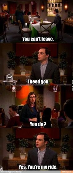 The Big Bang Theory --- lol, gotta love Sheldon
