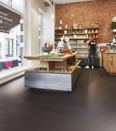 Marmoleum Cocoa y Slate de Forbo Flooring Systems, los pavimentos de linóleo con premio de diseño Red Dot 2017