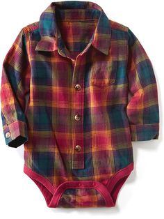 Plaid Bodysuit for Baby