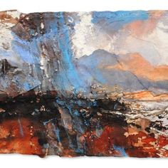 David Tress The Cuillins From Raasay. I' mixed media on paper, 32 x 41 cm.