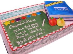 Teacher Retirement cake by Jenn123
