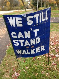 A homemade yard sign says it all 11/04/14