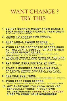 Slow Money suggestions to save your precious dollars and to strengthen your local community. Keep the money you spend circulating in your local economy to support local food, local jobs, etc. (YES!) Greater resiliency all around!