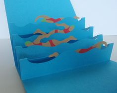 swimming pop up card