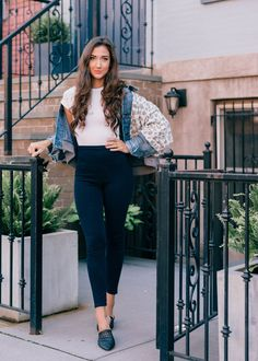 Transitioning Leggings from Workday to Weekend w/ Yummie    #denimjacket #freepeople #weekendoutfit #bloggerstyle #outfitinspo #womensfashion #casualfashion #jeggings #leggingsoutfit #leggings #slipons #bloggerinspo #nycstyle #nycblogger #newyorkstyle #streetstyle #trendy #casual #trendy #hairinspo #beautyblogger #wavyhairstyle #curlyhairstyle