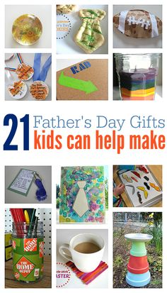 21 fun ideas to make and give to dad. Father& day gifts that kids can help make. Fathers Day Crafts, Happy Fathers Day, Daddy Gifts, Gifts For Dad, Holiday Fun, Holiday Crafts, Christmas Diy, Summer Crafts, Crafts For Kids