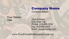 Angles and circles make up this artistic brown, tan, and white printable business card. Free to download and print Printable Business Cards, Free Business Cards, Company Slogans, Company Names, Angles, Circles, Printables, Brown, How To Make