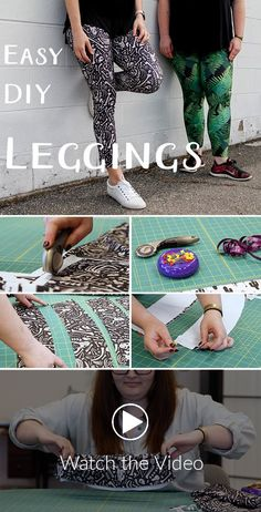 Spoonflower has joined with Sprout Patterns again to show you how to stitch up a stretchy, sporty pair of leggings just in time for warm weather. Sewing Patterns Free, Sewing Tutorials, Sewing Projects, Pattern Sewing, Sewing Pants, Sewing Clothes, Fashion Sewing, Diy Fashion, Baby Leggings Pattern