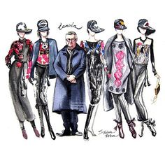 Happy Friday Everyone!Thank you @ruthless_wen for creating this sketch showcasing✨Alber Elbaz✨and his latest collection Lanvin FW 2015Beautiful! #Lanvin #AlberElbaz #LanvinFW15