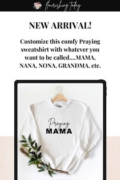 It's fall and we've got the perfect inspirational sweatshirt to add to your closet! With this customizable Praying tee you can add whatever name you liked to be called...NANA, NONA, GRANDMA. SISSY. TEACHER etc. It makes a perfect fit for new moms, family members or teachers! #christiantee #tshirts #fashion #prayer Christian Tees, Christian Women, Hope In God, Salt And Light, Christian Resources, Scripture Cards, Prayer Book, Prayer Warrior, Christian Encouragement