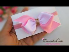 Beautiful baby tie in stripe - Poly Formozo - dalia ginda - Baby Diy Lace Ribbon Flowers, Ribbon Hair Bows, Diy Hair Bows, Diy Bow, Diy Ribbon, Kanzashi Tutorial, Hair Bow Tutorial, Baby Bikini, Baby Tie