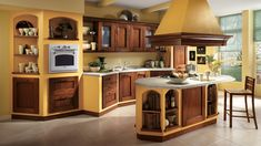 [ Country Kitchen Paint Colors Decor Ideasdecor Ideas Wall Painting Interior Design News And ] - Best Free Home Design Idea & Inspiration Wood Laminate Kitchen, Paint For Kitchen Walls, Kitchen Paint Colors, White Kitchen Cabinets, Painting Kitchen Cabinets, Kitchen White, Oak Cabinets, Yellow Country Kitchens, Country Kitchen Island