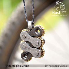 Pingente bike chain mini by Rust Miner #pendant #necklace #bike #colar #bicicleta
