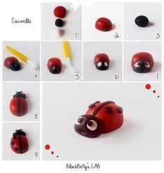 Tutorial coccinella in pasta di zucchero - sugarpaste tutorial ladybird: