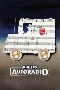 Frans Mettes - Vintage Philips Autoradio ad