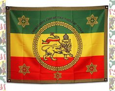 Imperial Standard[drs]Tapestry(Big Flag) Haile Selassie Quotes, Ethiopian Flag, History Of Ethiopia, Black King And Queen, Jah Rastafari, Rasta Lion, Black Royalty, African Royalty, Tribe Of Judah