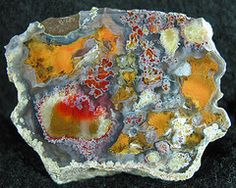 rough agate...as opposed to polished.  I love all the different formations in it.
