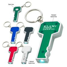 Promotional Key Shape LED Key Light | Customized LED Key Chains | Promotional LED Key Chains