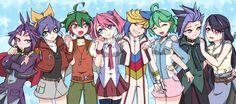 Yuri, Serena, Yuya, Yuzu, Yugo, Rin, Yuto and Ruri