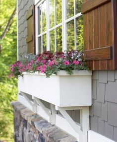 A window box adds living personality to your home. Sun or shade, there is a combo that will suit your setting and style.