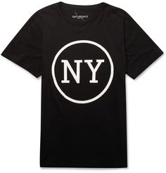 SATURDAYS SURF NYC  PRINTED COTTON T-SHIRT