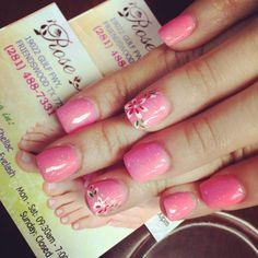 Baby pink nails!!