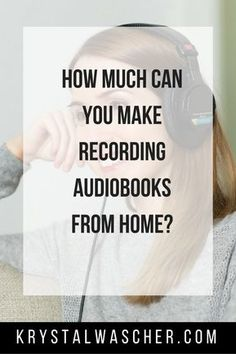 "When people ask me what I do for a living, they are usually surprised. My standard answer is that, ""I get paid to read books out loud."" In other words, I'm a full time audiobook narrator. Earn Money From Home, Way To Make Money, How To Make, Work From Home Opportunities, Work From Home Jobs, Online Jobs From Home, Reading Jobs, Faire Son Budget, Affiliate Marketing"