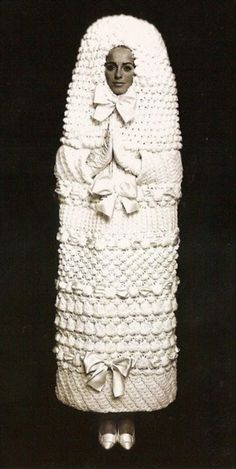 YSL Knitted Wedding Dress 1965
