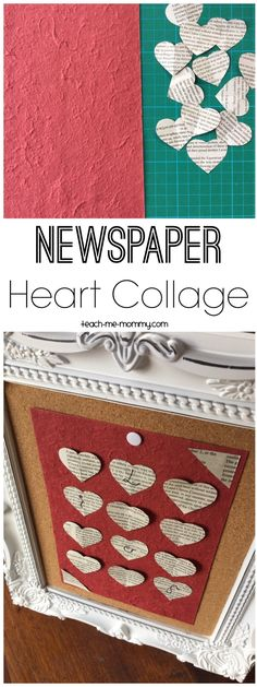 Newspaper Heart Collage