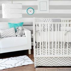 Zig Zag Baby Neutral Crib Bedding Collection