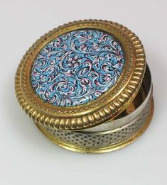 Silver Gilt and Enameled Box. Circa 1700, Germany. From Peter Szuhay. www.peterszuhay.com