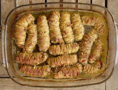 λεμονάτα γαρδουμπάκια, πικάντικα στο φούρνο - Pandespani.com Greek Recipes, Easter Recipes, Sausage, Food And Drink, Appetizers, Beef, Stuffed Peppers, Cooking, Meals