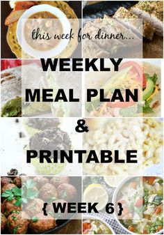 Weekly Meal Plan No. 6  |Weekly Meal Plan from your favorite bloggers! They do all the planning for you. Even give you a shopping list you can fill in with what you need! } www.thirtyhandmadedays.com