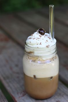 Iced Coffee Frappe at home.