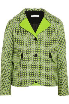 Carven Checked cotton-blend tweed jacket | NET-A-PORTER
