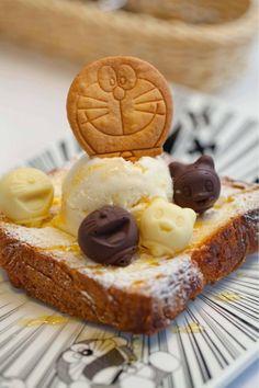 Doraemon-themed dessert @ Harbour City, Hong Kong ♥ Dessert