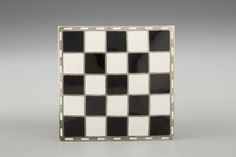 Square brooch by Josef Hoffmann, 1910-11. Manufactured by J. Souval, Vienna for the Wiener Werkstätte