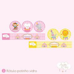 Festa Tema Circo Menina | Arquiteta de Fofuras Shower Party, Baby Shower Parties, Fox Party, Circus Party, Pink Girl, Cartoon, Birthday, Alice, Carousel