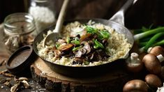 Mushroom Risotto - Risotto is a typical Italian dish. However, its main ingredient is rice, which is the basic ingredient of paella too.
