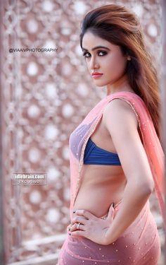 Sony Charishta Awesome Smoking Hot & Spicy Pics In Blue BRA & Transparent Saree..