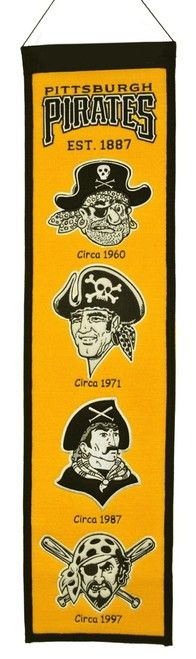 Pittsburgh Pirates Banner 8x32 Wool Heritage