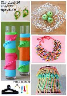 Upcycle with cable ties.  Who knew cable ties could be used for more than tying cables?