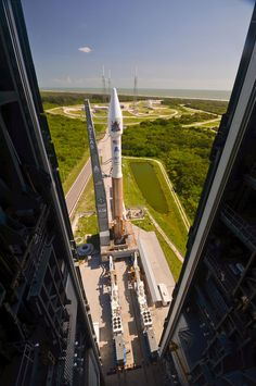 Atlas 5 Rocket with NROL-38 Mission Through Doors
