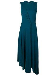 Givenchy Vestido Wrap Dress - Farfetch - - Givenchy Vestido wrap dress – Blue Source by arachneattire Cute Dresses, Dresses For Work, Wrap Dresses, Dress Me Up, Hugo Boss, Green Dress, Dress Patterns, Dress Skirt, Frill Dress