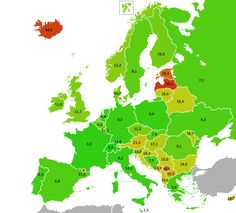 Percentage of inhabitants of European countries living in the capital