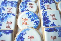 Spanish Tile Wedding Cookies by Sogi's Honey Bakeshop www.sogoalzolghadri.com
