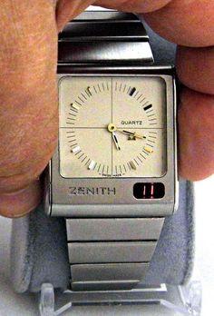 Vintage Zenith Futur Time Command Ana-Digi Quartz LED Watch, Circa 1975.
