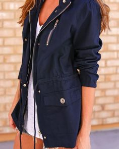 PREORDER - Concordia Cotton Anorak Jacket - Navy